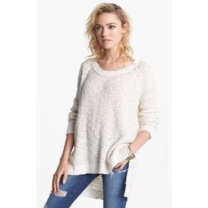 Free People Cream Jeepster Pullover Sweater XS